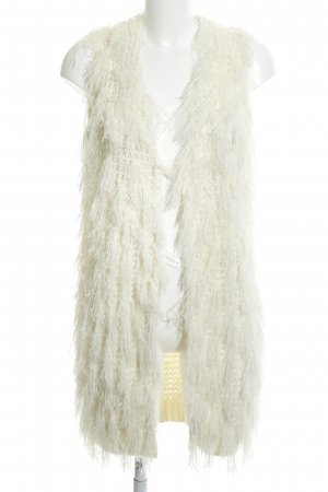 Vila Fringed Vest white-natural white elegant