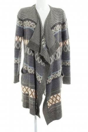 Vila Coarse Knitted Jacket ethnic pattern casual look