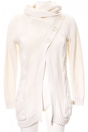 Vila Coarse Knitted Jacket natural white casual look