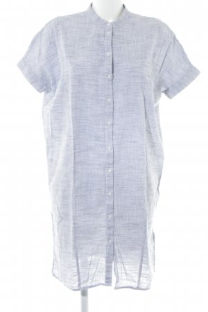 Vila Shirtwaist dress white-dark blue weave pattern casual look