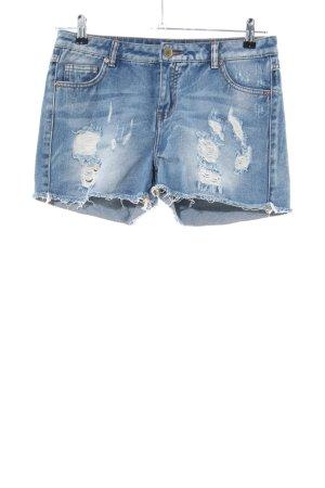 Vila Pantaloncino di jeans blu stile casual