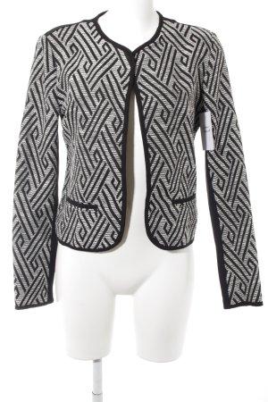 Vila Jerseyblazer weiß-schwarz grafisches Muster Business-Look
