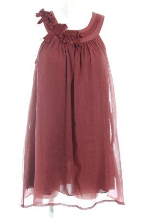 Vila Jerseykleid braunrot Casual-Look