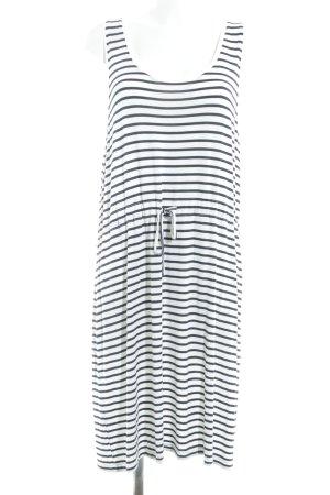 Vila Jerseykleid dunkelblau-weiß Streifenmuster Casual-Look