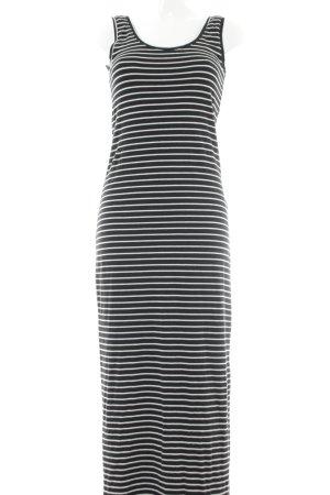 Vila Vestido de tela de jersey negro-blanco estampado a rayas look casual