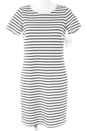 Vila Jerseykleid schwarz-weiß Streifenmuster Casual-Look