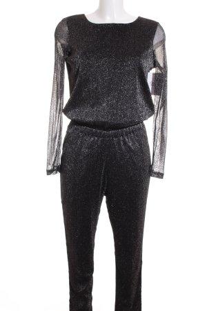 Vila Jumpsuit schwarz-silberfarben Street-Fashion-Look