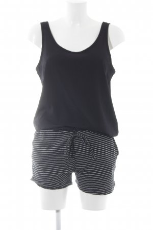 Vila Jumpsuit schwarz-weiß Casual-Look