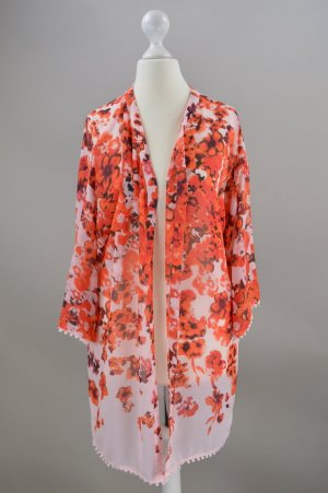 Vila Kimono light orange-salmon polyester