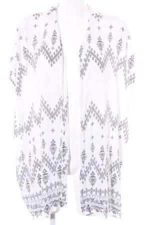 Vila Kimono blanc imprimé abstrait style décontracté