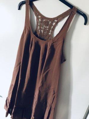 Vila Hippie Dress light brown
