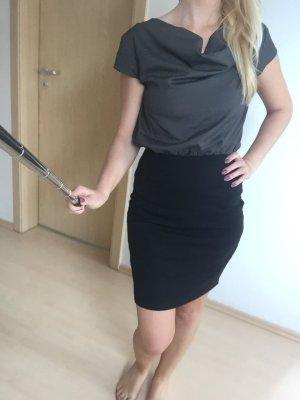 Vila Kleid - Business XS - grau/schwarz
