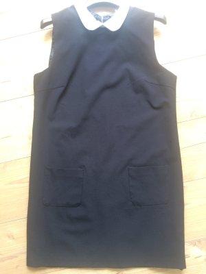 Vila Kleid Hängerchen Kragen Kragenkleid schwarz weiß vintage