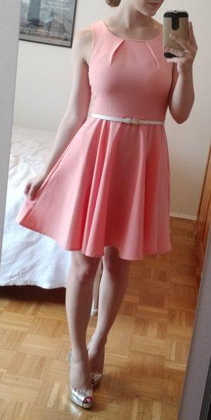 Vila Kleid S 36 Etui Ausgestellt sommer elegant rosa feminin etuikleid blogger