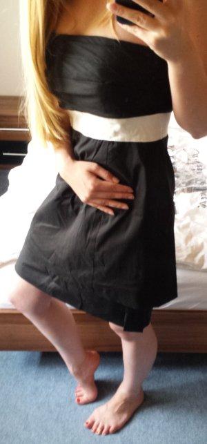 Vila Kleid schwarz mit weißem Streifen