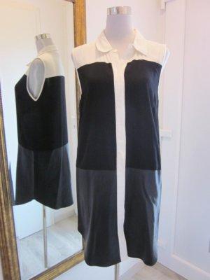 Vila Kleid schwarz weiss Gr M Neu Materialmix