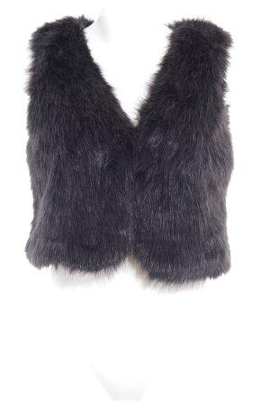 "Vila Fake Fur Vest ""Phoenix"" black"