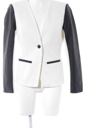 Vila Kurz-Blazer weiß-schwarz Elegant