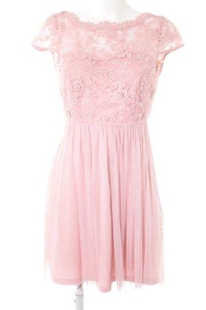Vila Kurzarmkleid rosa extravaganter Stil