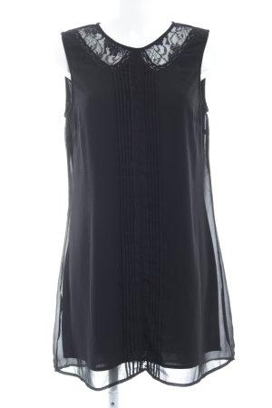 Vila Kurzarmkleid schwarz Elegant