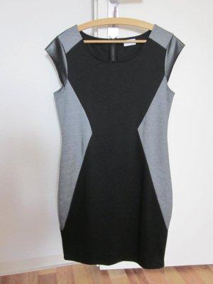 Vila kurzes Kleid schwarz/grau
