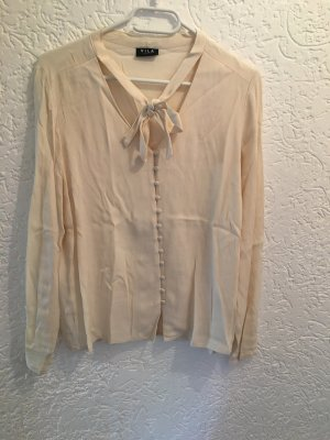 Vila Tie-neck Blouse cream