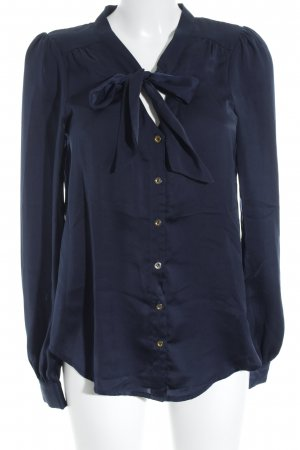 Vila Long Sleeve Blouse dark blue-gold-colored elegant