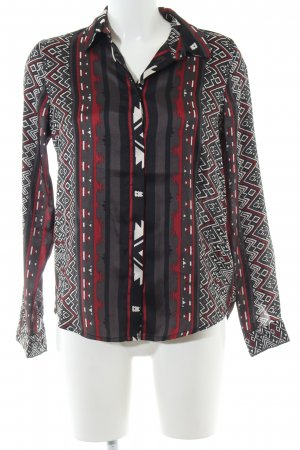 Vila Langarm-Bluse grafisches Muster Casual-Look