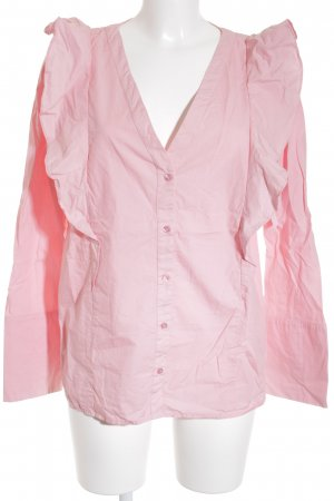 Vila Langarm-Bluse pink Business-Look