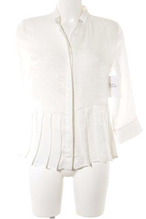 Vila Langarm-Bluse weiß Elegant