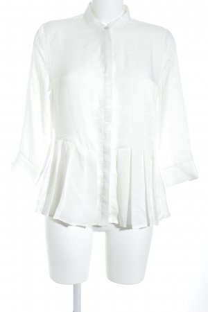 Vila Long Sleeve Blouse white shimmery