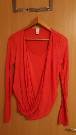 Vila Langarm Shirt Rot