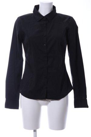 Vila Shirt met lange mouwen zwart zakelijke stijl