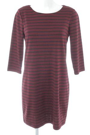 Vila Longsleeve Dress bordeaux-black striped pattern casual look