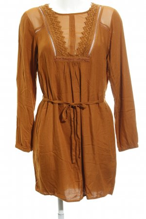 Vila Longsleeve Dress russet casual look