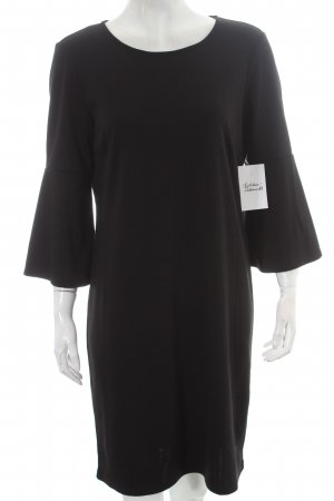 Vila Langarmkleid schwarz schlichter Stil