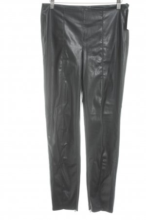 Vila Leather Trousers black classic style