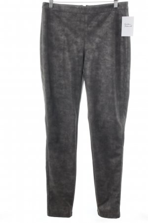 Vila Leather Trousers silver-colored-grey elegant