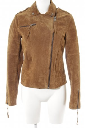 Vila Lederjacke cognac Country-Look
