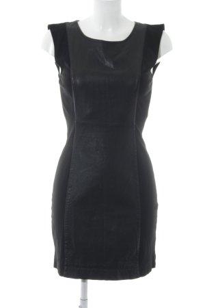 Vila Leather Dress black biker look