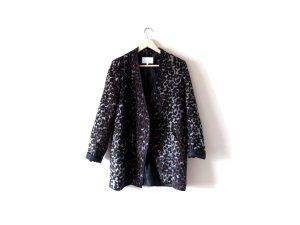 Vila Leoparden Mantel Gr. L Leo lilly blazer braun grau schwarz rockabily trend