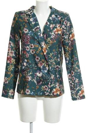 Vila Long-Blazer Blumenmuster Elegant