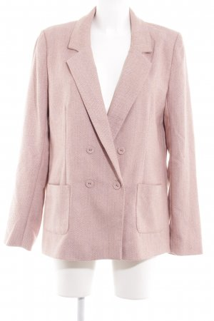 Vila Long-Blazer camel-altrosa Zackenmuster Business-Look
