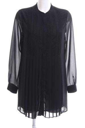 Vila Long-Bluse schwarz Elegant