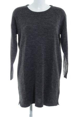 Vila Long Sweater dark grey flecked casual look