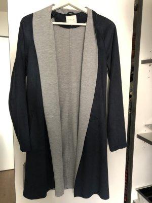 Vila Wool Coat dark blue-light grey