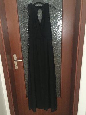 Vila maxikleid Abendkleid perlen Silber schwarz S