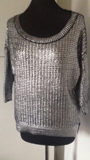 Vila Metallic Pullover Oversize Kastenform M