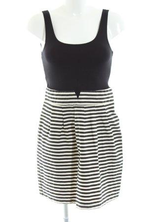Vila Minikleid schwarz-weiß Streifenmuster Casual-Look
