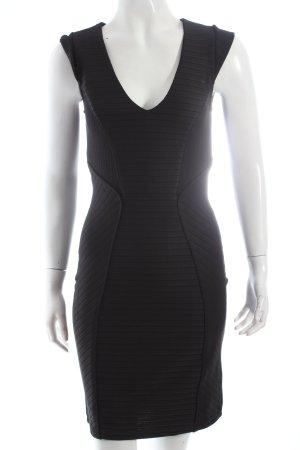 Vila Minikleid schwarz Streifenmuster Eleganz-Look